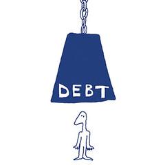 debt illustration by Kath Walker Illustration