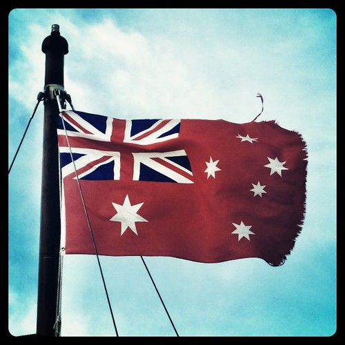 Australian Nautical Flag, they need a new one.