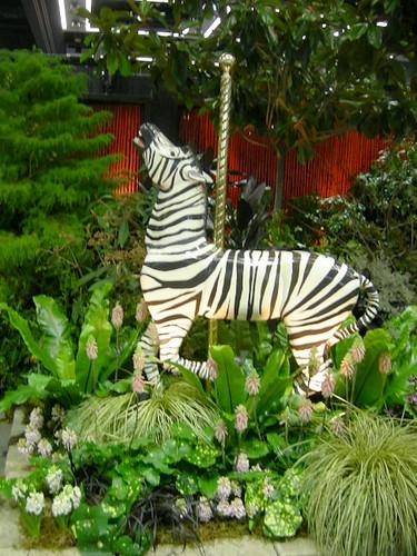 Carousel zebra from Butchart Gardens