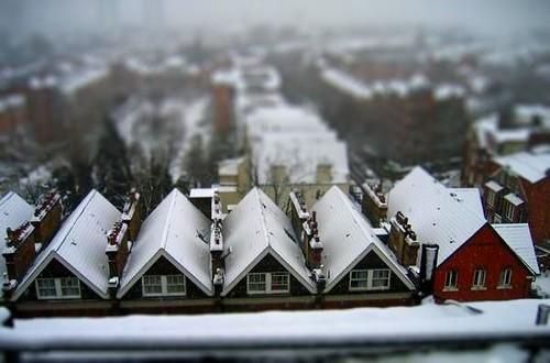 snowy rooftops-tiltshift