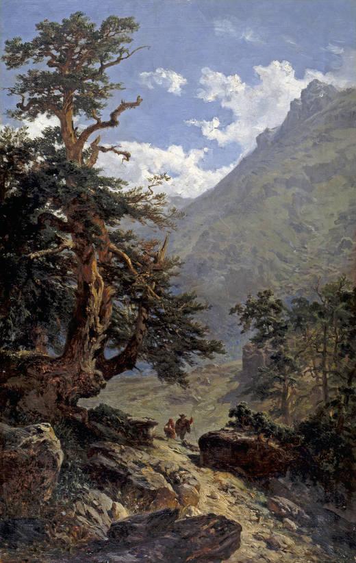 Carlos de Haes (Brussels, 1826-Madrid, 1898) La vereda (1871) Oil on canva. 93.7 x 60.4 cm. Museo Nacional del Prado, Madrid.