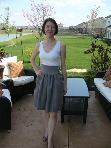 Cord Skirt 1