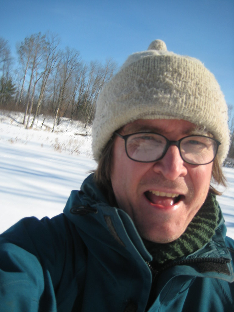 Me happy! Out on Lake Almira walking the dogs.