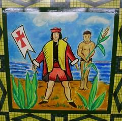 Christopher Columbus Glazed Tile Painting - 9