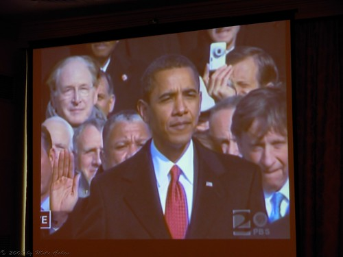 Obama takes the oath of office