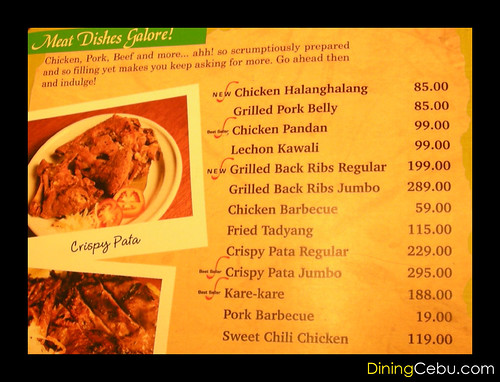 Golden Cowrie menu and food prices
