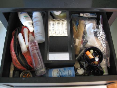 vanity drawer - messy