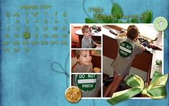 Ethan's March Calendar