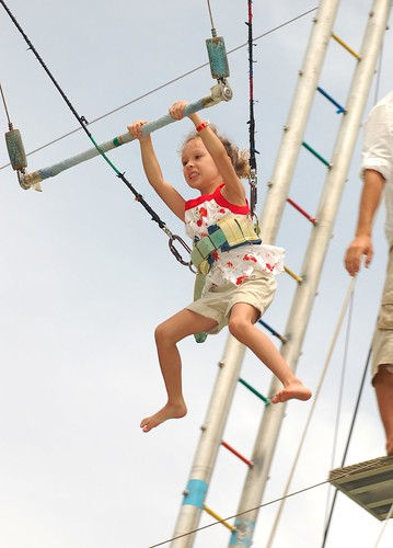 Grace on the Trapeze - Club Med - Bintan, April 2009