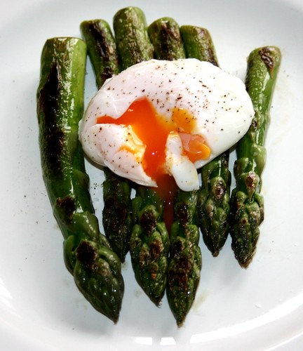 New Season Asparagus with a Poached Egg