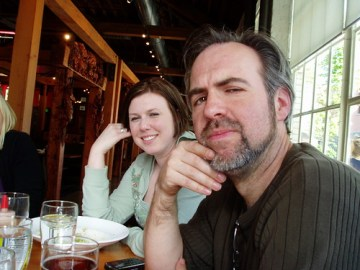 The architect & my co-worker/friend contemplate the brews