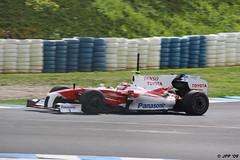 Entrenamientos de F1 en el Circuito de Jerez (03/03/2009). Timo Glock (Toyota).