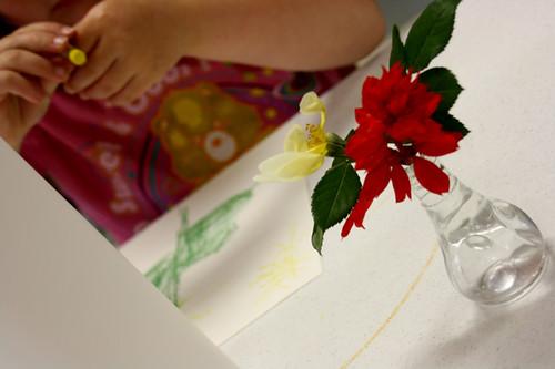 still life flower drawing - 06