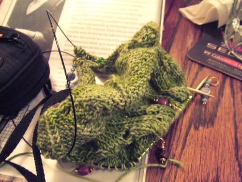 Tuscany shawl, in progress