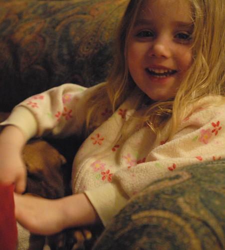 Cassandra in jams snuggles Tawzalt