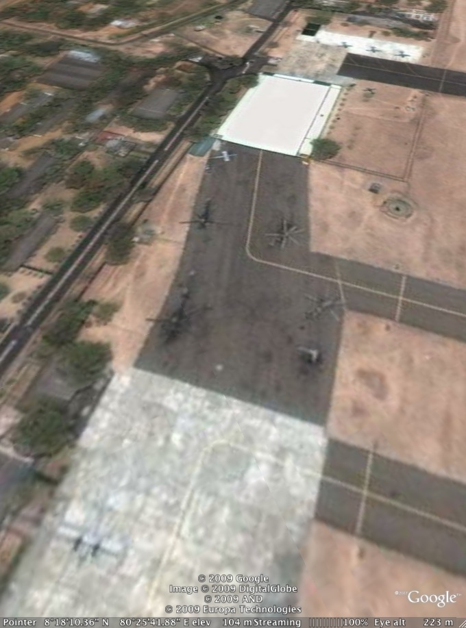 Sri Lanka Airforce Base Anuradapura from Google Earth