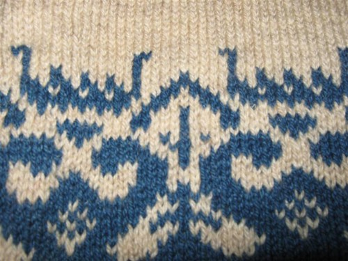 norwegian sweater detail