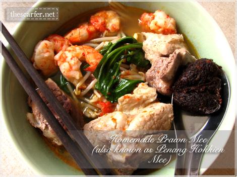Homemade Prawn Mee/Penang Hokkien Mee