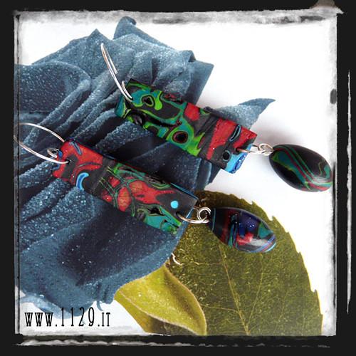 MBCATR orecchini makume gane multicolore polyclay earrings