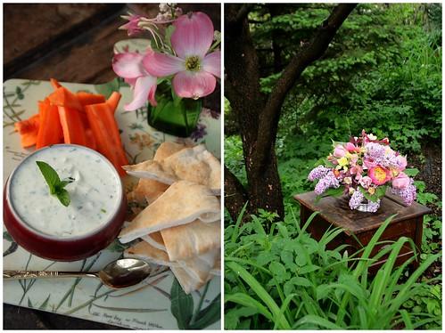 Organic Tzatziki Dip with carrots and pita