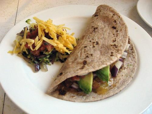 Vegetarian Taco with Spicy Zuchinni Slaw