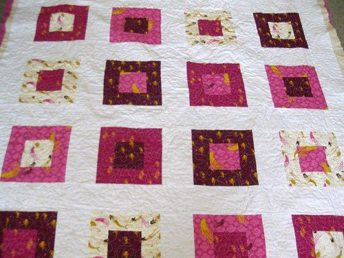 the quilt top, for whatever reason I never got a pic of it on the finished quilt.