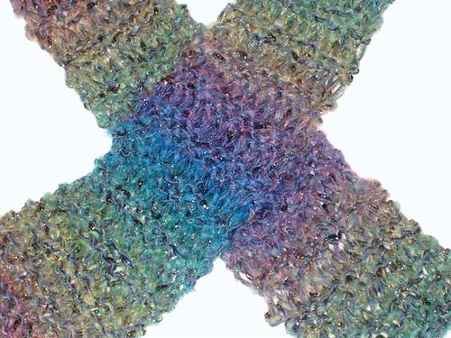 Mohair scarf detail