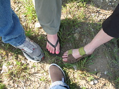 Writers' Feet, Kansas City, Missouri, April 2009, photo © 2009 by QuoinMonkey. All rights reserved