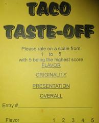 How we judge tacos....