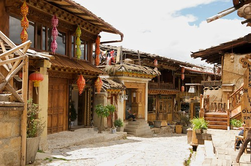The traditional old town has actually only been there for a few years.
