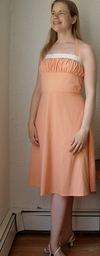 peach sundress oblique