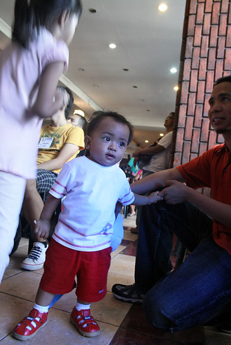 Me and my son Elian during last Aprils Makabayan! Coalition launching at the UP Bahay ng Alumni.