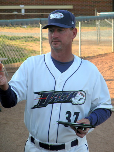 Bobby Thigpen shown in April of this year as the pitching coach of the Winston-Salem Dash of the Carolina League.