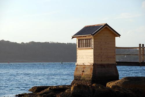 Pequeña cabaña en la playa de Watsons Bay