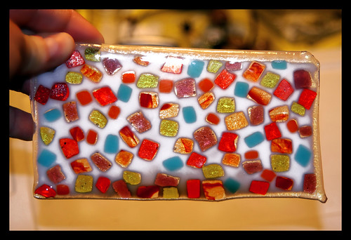Broken Glass Jello fused glass after 3 firings