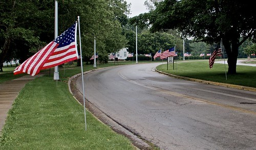 Entrance to the VA on Memorial Day