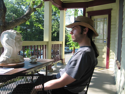 Hatman on Porch by you.