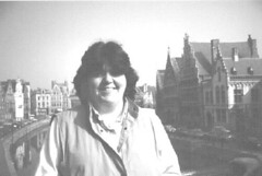 Me on a bridge in Brugges, Belgium, c. 1985