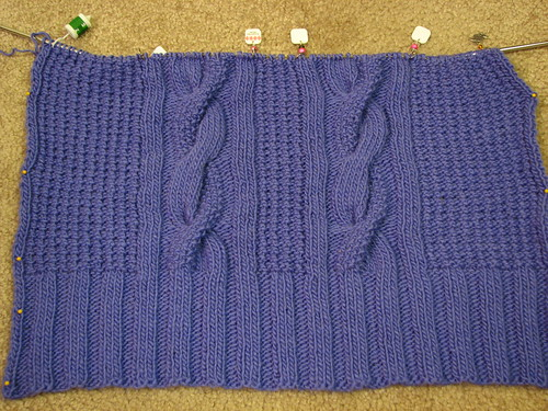 Nubby Cardigan: back detail