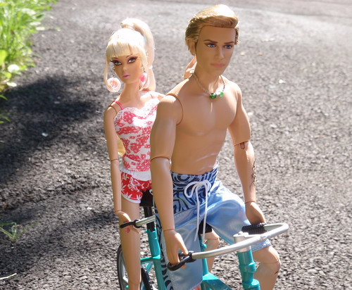 Jack And Jenny On Their Tandem Bicycle
