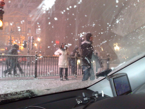 snowball fight in central london by you.