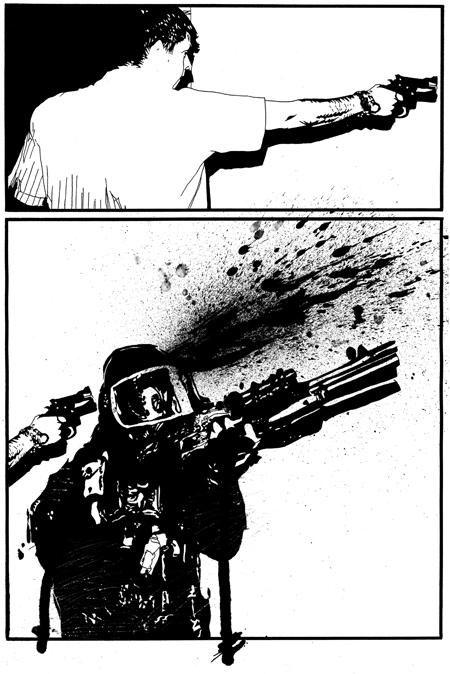 battles-page-22-ink-on-paper-splatter