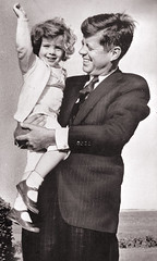 President John F. Kennedy and daughter Carolin...