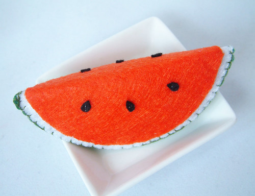 felt food pattern watermelon
