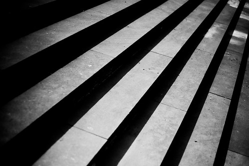 Black and White Steps