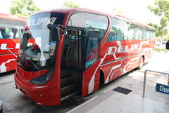 Our delux coach bus from Melaka to Singapore
