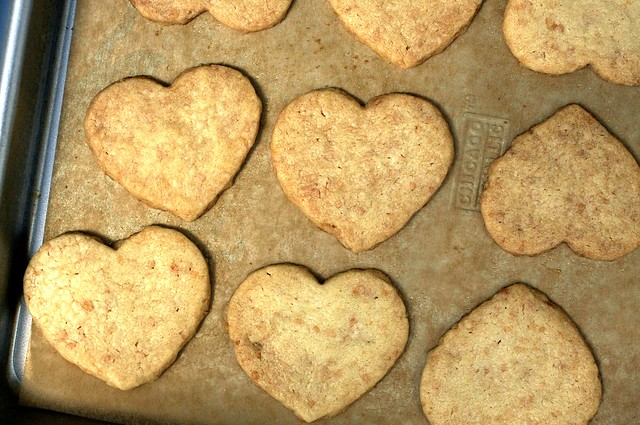 toasted coconut shortbread hearts