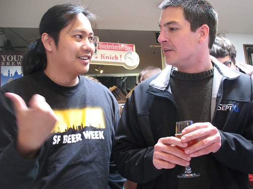 Peter Estaniel of Better Beer Blog and pal at Toronado Barleywine Festival, SF Beer Week