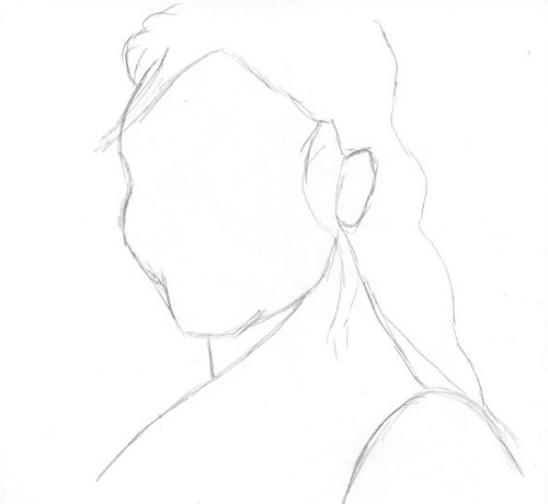 Drawing Unknown Faces, part 173, sketch 1