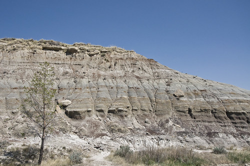 The area known as the Badlands around Drumheller, Alberta